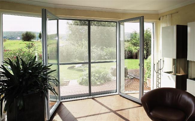 Lo ultimo en cortinas persianas benalua s l for Mosquiteras puertas abatibles terraza
